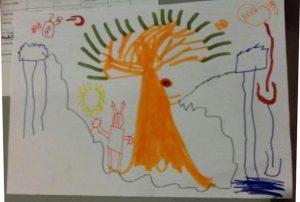 Résumé en image, par Hector 5 ans
