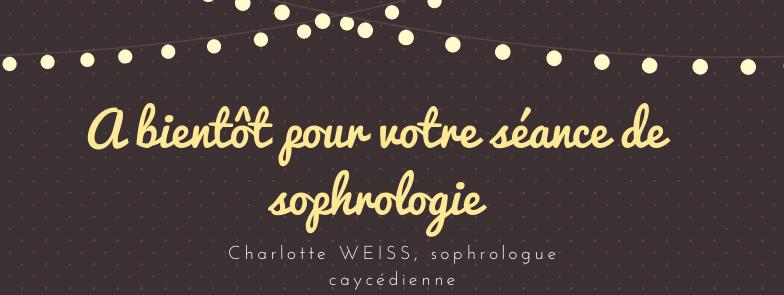 A bientôt pour votre séance à distance avec Charlotte Weiss